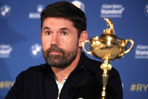 New European Ryder Cup captain Padraig Harrington at Wentworth Golf Club on Tuesday (Picture: Adam Davy/PA Wire).