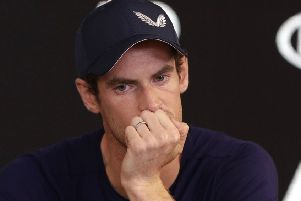 Britain's Andy Murray answers questions during a press conference at the Australian Open tennis championships in Melbourne, Australia, Friday, Jan. 11, 2019. A tearful Murray says the Australian Open could be his last tournament because of a hip injury that has hampered him for almost two years. (AP Photo/Mark Baker)
