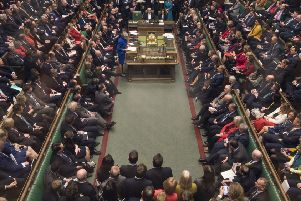Theresa May addresses MPs at the end of Wednesday's no confidence vote which the Government survived.