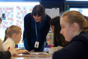 Primary school pupils from Arbourthorne Primary School are being taught Latin to help improve literacy standards. The initiative is being supported by Classics teachers from Sheffield High School for Girls. Pictured is Emma Burne, Head of Classics at Sheffield High School for Girls. Picture: Chris Etchells