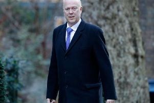 Chris Grayling arrives for a Cabinet meeting at Downing Street