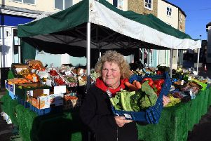 Josie Taylor who works on Brown's fruit and vegetable stall.