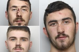 Declan Bower, 23 (upper left), Mason Cartledge, 18 (Bottom left) and Elliot Bower, 19 (right) have all been jailed over the crash on November 9 last year