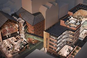 Impression of the future Opera North facility in Leeds