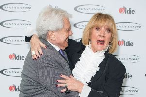 Lionel Blair and Amanda Barrie  arriving for the Oldie of the Year awards at Simpson's in the Strand, in London. Picture: Dominic Lipinski/PA Wire