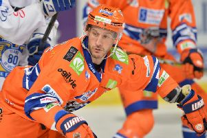 MAKE IT COUNT: Captain Jonathan Phillips is expecting his Sheffield Steelers team to scrap for every single point on the run-in to the end of the regular season. Picture: Dean Woolley.