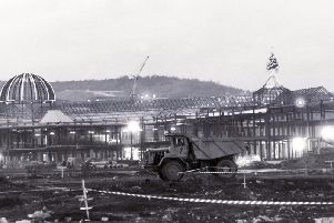 Meadowall during construction. Picture: Martin Smith