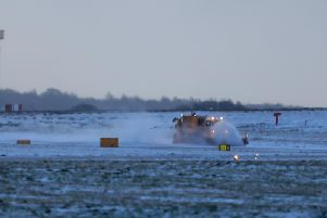 Gritters clearing snow at Leeds Bradford Airport in 2016 (file photo, Charlotte Graham)
