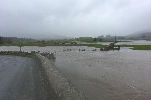Flooding in Bishopdale valley. Picture: Environment Agency.