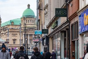 Shoppers in Hull in January. Picture: James Hardisty