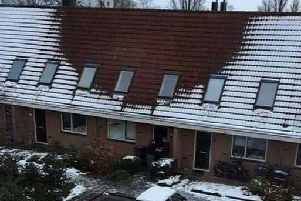 Snow doesn't usually settle on houses where drugs are being grown... Photo: Kingsbridge Police