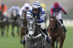 WARMING UP: Nico de Boinville and Angels Breath win The Sky Bet Supreme Trial Novices' Hurdle at Ascot in December last year. Picture: Alan Crowhurst/Getty Images