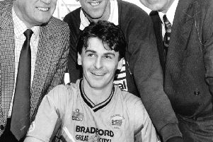 Mick Kennedy, pictured during his Bradford City days.