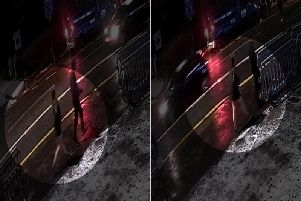 Screengrab from handout CCTV footage issued by Humberside Police of a woman (circled) believed to be missing student Libby Squire outside a nightclub in Hull before she disappeared. The footage, filmed on the evening of January 31, shows a woman dressed in black walking along the road near to The Welly club, on Beverley Road, in the city.