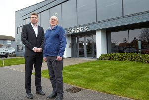 Peter Hirst of Render East and Ben Cooper of PPH Commercial at The Bloc in Anlaby, Hull.