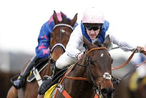 Brian Hughes and Waiting Patiently pictured winning last year's Ascot Chase.