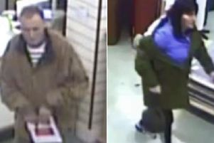 Police in Scarborough want to identify the two people in these CCTV images.