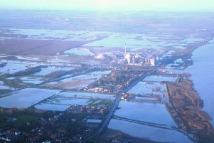 The aftermath of the tidal surge of 2013: the Cemex Works in South Ferriby was among businesses flooded