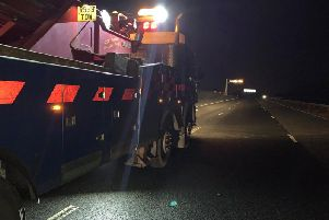 Emergency services have been at the scene of a crash on the A1M overnight.