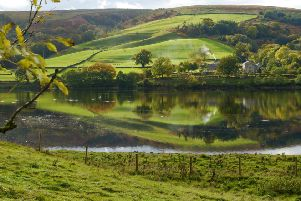 Looking west across Gouthwaite Reservoir on the Nidderdale Way. (Picture: Jacquetta Megarry).