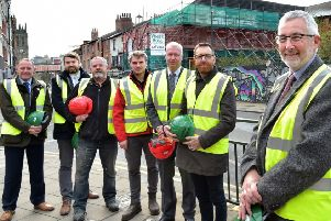 Contractors have moved in on First White Cloth Hall in Leeds.