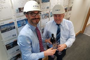 Sigmat's chief operational officer Marcus Wood with operations manager, John Ritchie.