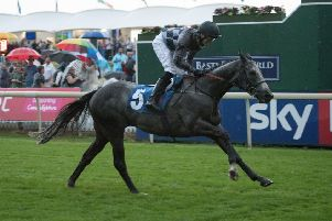 Oakley Brown winning on Third Time Lucky at York. Picture submitted