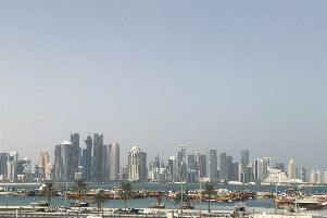 Photo of Doha's West Bay. PA