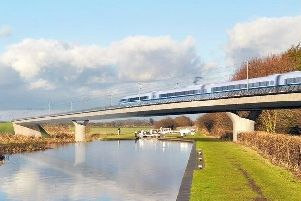 An artist's impression of how HS2 could look