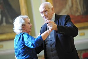 Slyvia and Donald Hagin, pictured during the Tea Dance at the Mansion House.
