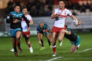 Hull KR's Craig Hall races away.  (PIC: Jonathan Gawthorpe)