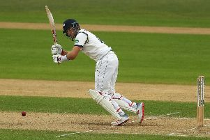 Joe Root turns one through the square leg area on his way to 73 against Nottinghamshire at Trent Bridge . Picture: Matthew Lewis/Getty Images