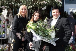 April Bell, centre, at Monica F Hewitts Florists in Sheffield. Pic: Glenn Ashley