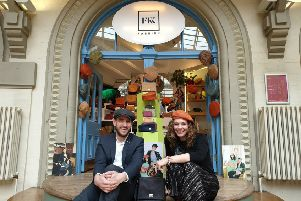 Adam Warner, centre manager for Corn Exchange in Leeds and Kate Pearson founder of Fabrikk, which has just opened up in the Corn Exchange.