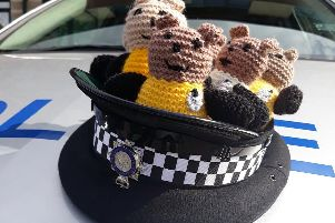 North Yorkshire Police are collecting knitted toys called 'Bobby Buddies' to take to distressing incidents that involve children. Picture: North Yorkshire Police