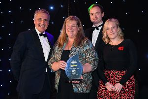 Yorkshire Post Excellence in Business Awards at the National Railway Museum in York.'Commercial Space Award winners Yorkshire Events Centre.'1st November 2018.
