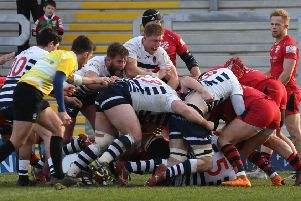 Yorkshire Carnegie in action against Jersey Reds in February (Picture: Varleys)