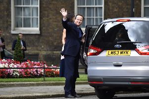 David Cameron leaves 10 Downing Street for the final time after resigning as Prime Minister.