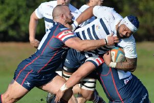 Rivals: Games between Yorkshire Carnegie and Doncaster Knights are always well-fought, as it was in November. (Picture: Bruce Rollinson)