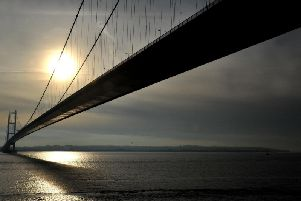 A motorcyclist has died after a crash on the A63 directly under the Humber Bridge.
