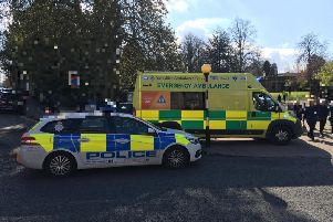 Police were called to the incident at 3.30pm yesterday.