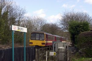 An archive photo of a train on the Esk Valley line.