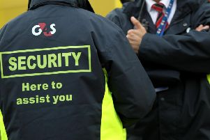 G4S Security guards. Pic: David Davies/PA Wire.