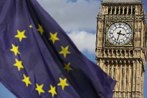 A European Union flag in front of Big Ben, as Remain supporters demonstrate in Parliament Square, London, to show their support for the EU in the wake of Brexit.