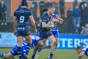 Josh Hardcastle scored a second-half brace as Featherstone Rovers eased past York City Knights.