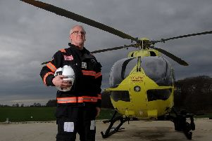 Steve Waudby chief pilot for the Yorkshire Air Ambulance.Picture by Simon Hulme