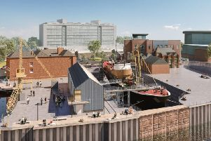 North End Shipyard - how it will look when the work is done, including a new visitor's centre