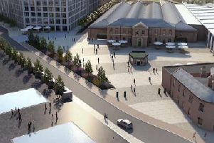 Officials say the York Central scheme will bring more than 6,000 jobs to the area. Pic is artist's impression.