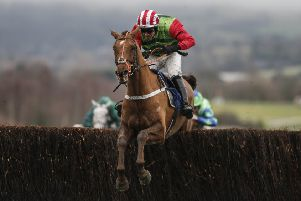 Definitly Red and jockey Danny Cook line up in today's Oaksey Chase at Sandown.