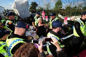 Anti-fracking campaigners staged demonstrations in Kirby Misperton last year